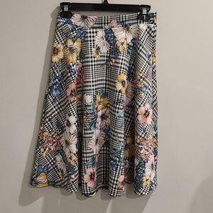 Faith and Joy by Monteau check & floral skirt
